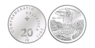 Монета ко дню 23 сентября: первый перелет через Альпы.