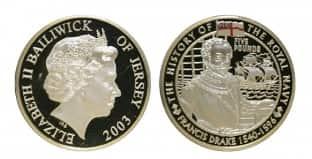 Монета ко дню 26 сентября: окончание кругосветного плавания Дрейка.
