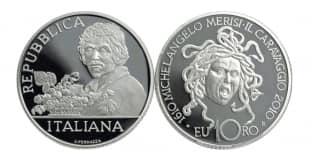 Монета ко дню 28 сентября: день рождения Микеланджело.