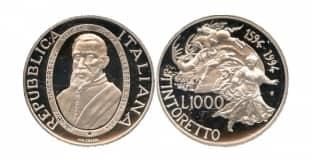 Монета ко дню 29 сентября: день рождения Якопо Тинторетти.