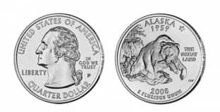 Монета ко дню 18 октября: переход Аляски к США.