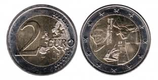 Монета ко дню 27 октября: гуманист Эразм Роттердамский.
