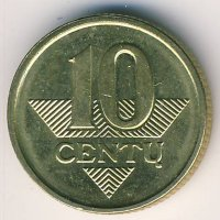 Lithuania 10 cents 2008