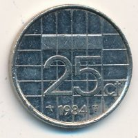 Netherlands 25 cents 1984
