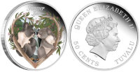 Tuvalu 50 cents 2012 - Love is forever. Koala