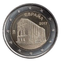 Spain 2 Euro 2017 - UNESCO. The Church of Santa Maria del Naranco in Oviedo