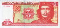 Cuba 3 pesos 2004 - Ernesto Che Guevara. Cleaning of sugar cane