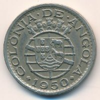 Angola 50 centavos 1950 - 300th anniversary of revolution of 1648