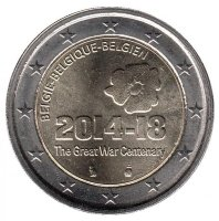 Belgium 2 Euros 2014 - 100 years since the outbreak of the First World war
