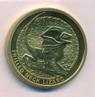 Australia 1 dollar 2008 - the Frilled lizard