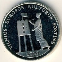 Lithuania 1 litas 2009 Vilnius – European capital of culture