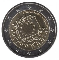 Cyprus 2 Euro 2015 - 30 years of the flag of Europe