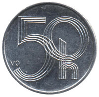 Czech Republic 50 cents 2001 coat of Arms