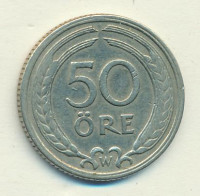 Sweden 50 öre 1920 - King Gustav V