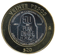 Mexico 20 pesos 2016 - 50 years to the Plan DN-III-E