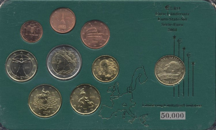 Euro series Italy 2002-2006 (9 coins)