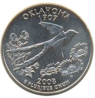 United States 25 cents 2008 - Oklahoma (D)