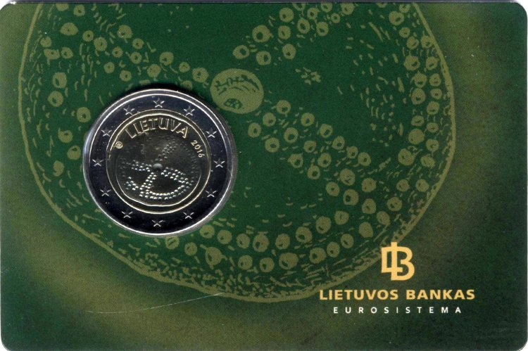 Lithuania 2 Euro 2016 - Baltic culture (in the card)