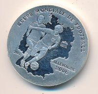 Togo 500 francs 2001 - XVIII world championship football in Germany 2006
