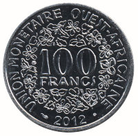 West Africa 100 francs 2012 - Weight Ashanti