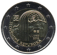 Slovakia 2 Euro 2018 - 25 years of the Slovak Republic