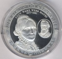 Liberia 20 dollars 2003 - Lucy Webb Hayes