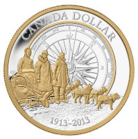 Set of 7 coins, Canada 2013 - 100 years of the Canadian Arctic expedition