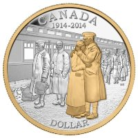 Set of 7 coins, Canada 2014 100th anniversary Declaration First World War
