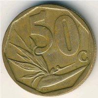 South Africa 50 cents 2008 - the strelitzia
