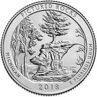 USA 25 cents in 2018 - National lake coast picturesque gems (P)