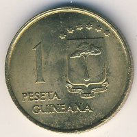 Equatorial Guinea 1 peseta 1969 - the Tusks