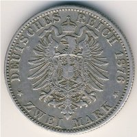 Hamburg 2 mark 1876