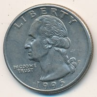 USA 25 cents (1/4 dollar) 1995 - George Washington (P)