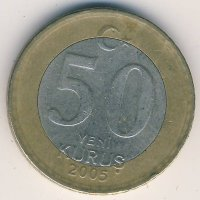 Turkey 50 new Kurus 2005 - Mustafa Kemal (Ataturk)