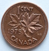 Canada 1 cent 1975 - Maple leaves