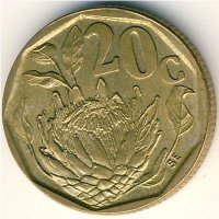 South Africa 20 cents 1992 - the king Protea