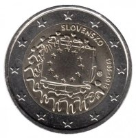 Slovakia 2 Euro 2015 - 30 years of the flag of Europe