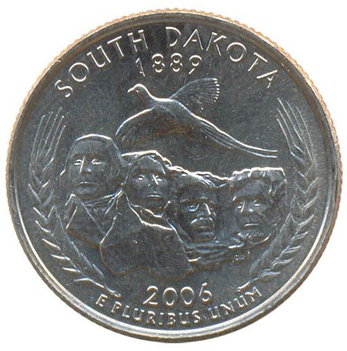 United States 25 cents 2006 - South Dakota (D)