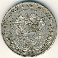 Panama 1/2 Balboa 1953 50 years of independence