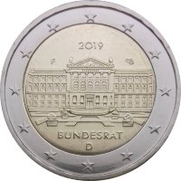 Germany 2 Euro 2019 is the 70th anniversary of the Bundesrat (F)