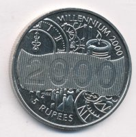 Seychelles 5 rupees 2000