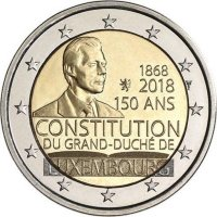 Luxembourg 2 Euro 2018 - 150th anniversary of the Constitution of Luxembourg