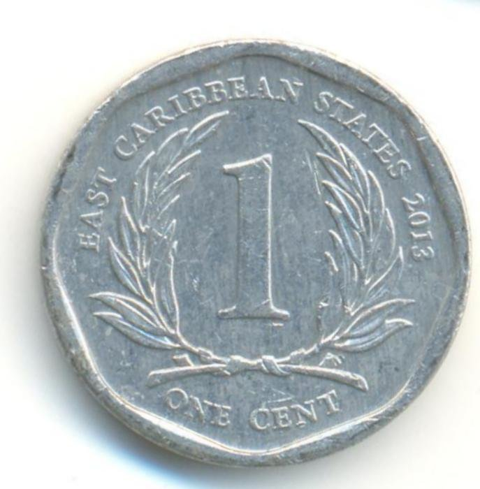 Eastern Caribbean 1 cent 2013