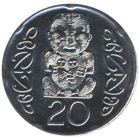 New Zealand 20 cents in 2014 - Idol Maori