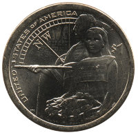 USA 1 dollar 2014 - the hospitality of the Indians (D)