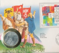 Switzerland 20 francs 1991 - 700 years of the Swiss Confederation