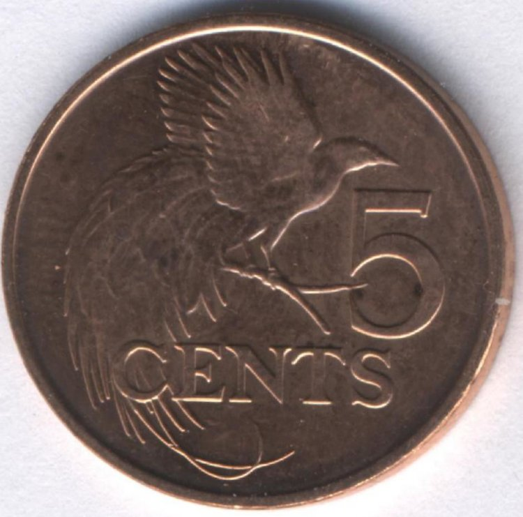 Trinidad and Tobago 5 cents 2014