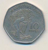 Mauritius 10 rupees 1997 Cleaning reed