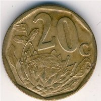 South Africa 20 cents 2004