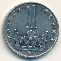 Czech Republic 1 Koruna 1993 - coat of Arms